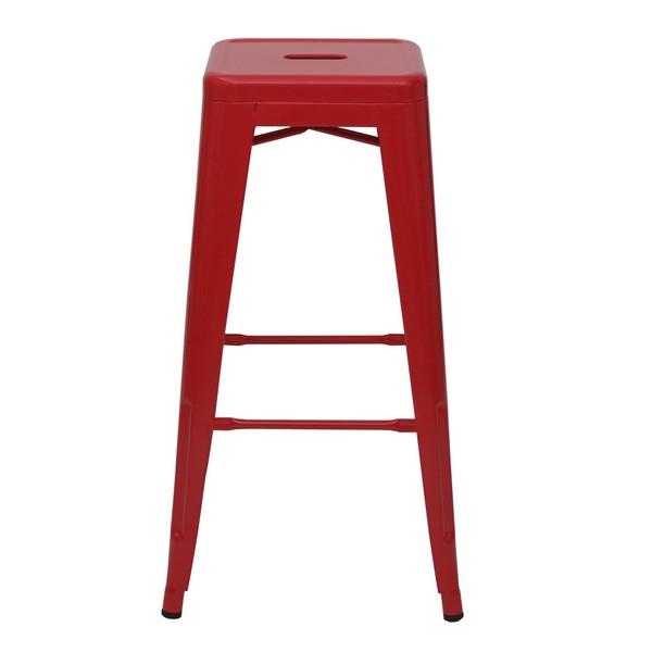 Barstole i industriel design stabelbar barstol i metal 2
